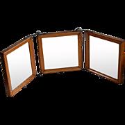 Antique Tri-fold Vanity Travel Mirror