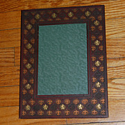 Vintage Embossed Faux Leather Photo Frame