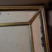 Beautiful Vintage Stamped Brass Photo Table Frame