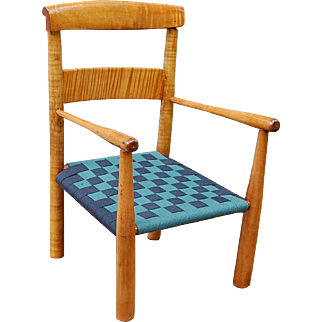Early Tiger Maple Child's Chair