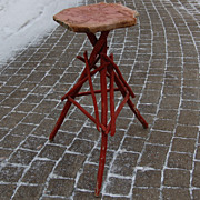Adirondack Twig Painted Stand