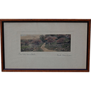 Fred Thompson 'The Old Homestead' Painted Photograph