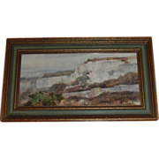 Charles Gross Signed Watercolor Cliff Landscape