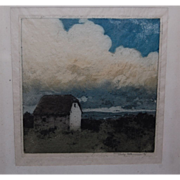 Artist Signed Landscape with Cottage Color Print