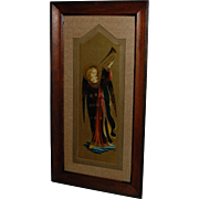 Renaissance Style Angel Gabriel Print in Lovely Wooden Frame