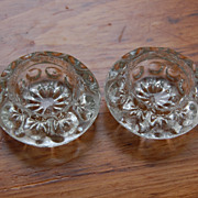 Antique Glass Salt Cellars Dimpled Pattern