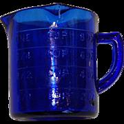 Vintage 1 cup Cobalt Blue Measuring Cup 3 Spouts
