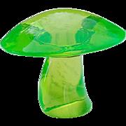 Vintage Viking Green Glass Mushroom