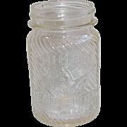 Vintage 1lb Jumbo Peanut Butter Jar
