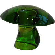 Viking Glass Green Mushroom