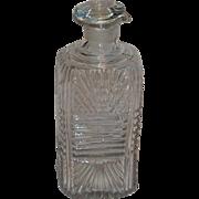 19th C. Sandwich Flint Glass Cruet or Decanter