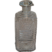 19th C. Sandwich Flint Glass Cruet or Decanter