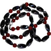Carnelian and Hematite Necklace