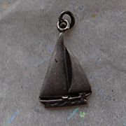 Vintage Sterling Silver Sailboat Charm