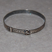 Vintage Sterling Expandable Bracelet for a Child