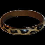 Vintage Faux Leopard Print Bangle Bracelet