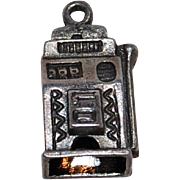 Vintage Sterling Slot Machine Bracelet Charm