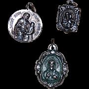 Three Religious Saints Charms Pendants
