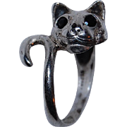 Kabana Sterling Silver Cat Ring