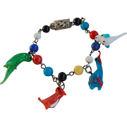Japan Glass Beads and Birds Children's Braclelet