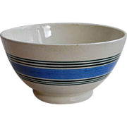 Lovely Striped English Waste Bowl