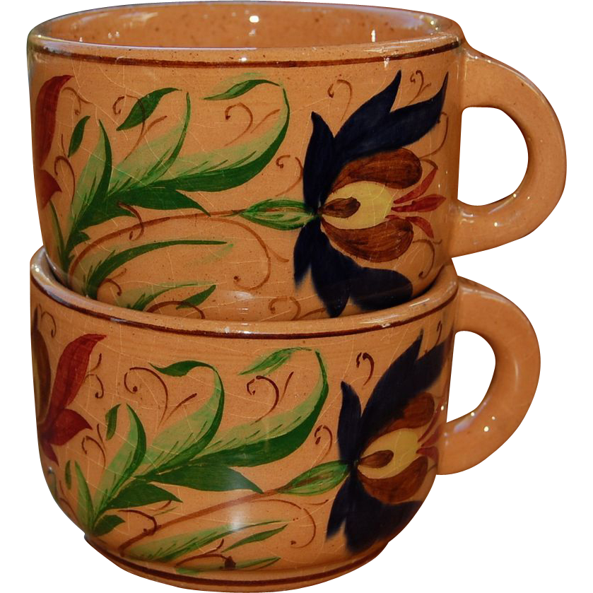 Balatonfured Hungary  city photos : Balatonfured Hungary Hand Painted Cups 1971 from starrhillantiques ...