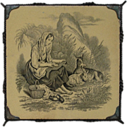 Mintons Shepherdess  Antique Tile Trivet