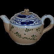 Blue Decorated Banko Ware Sharkskin Teapot