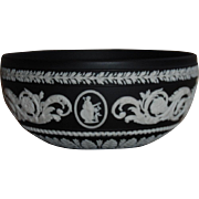 Black Jasper Ware Bowl Wedgwood Arabesque