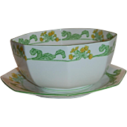 Swedish Royal Gustafsberg Primula Serving Bowl and Underplate
