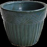 Roseville Flowerpot Blue Green Jardiniere