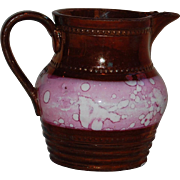 Lovely Pink and Copper Lustreware Creamer or Pitcher