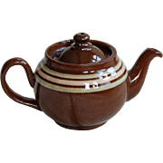 Vintage ALB English Tiny Teapot brown w/ Stripes