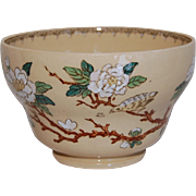 Wedgwood Waste Yelloware Bowl Bird on Blossoming Branch