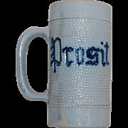 Antique PROSIT Stoneware Mug by White's of Utica