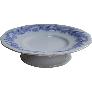 LP& Co Early Ironstone Cake Stand with Purple Decoration