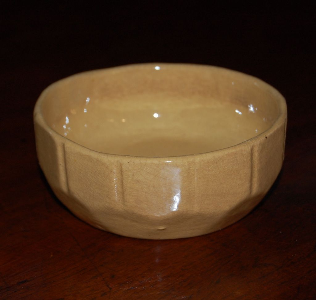 Vintage Yellow Ware Pudding Bowl Picket Fence Design from ...