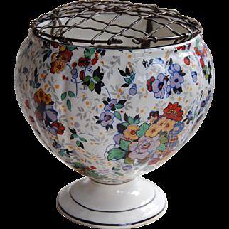 Chintz Ware Flower Frog Vase