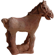 Primitve Terracotta Horse Figure