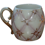 Small Antique Chid's Porcelain Mug Tufted Design
