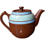 Sadler Tiny Brown Betty Teapot with Green and Blue