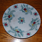"Staffordshire England 10"" 'Feathers' Pearlware Plate 1840"
