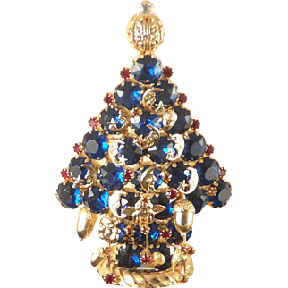 Christmas Tree Brooch Attruia Statement Piece