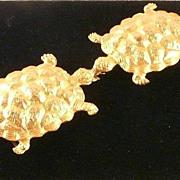 Mimi di N Turtle Belt Buckle Vintage Large Statement Size - Red Tag Sale Item