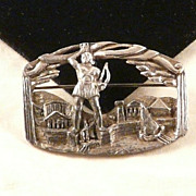 Coro Colossus of Rhodes Greece Brooch Pin Vintage