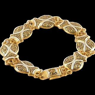 Damascene Bracelet Spain Castanet Link Vintage