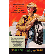 1935 Magazine Advertisement General Dual - Balloon Tires