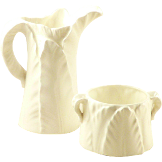 Royal Worcester Cream Pitcher and Open Sugar