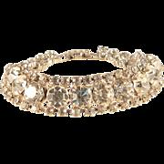 Rhinestone Bracelet Vintage 1950s Era Glittering Diamente