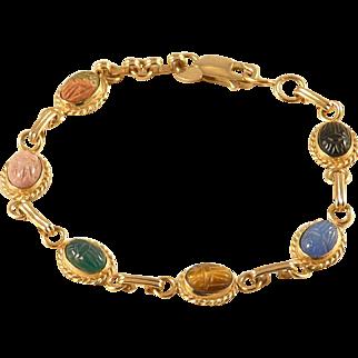 Carla Scarab Bracelet Gold Filled Vintage